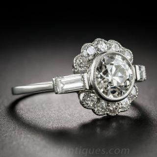 1.58 Carat Diamond Vintage Engagement Ring GIA K/VS2