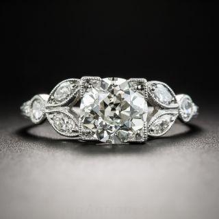 1.58 Carat Diamond Platinum Vintage Engagement Ring - GIA  K VS1