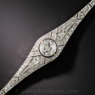 1.60 Carat Center Art Deco Diamond Bracelet