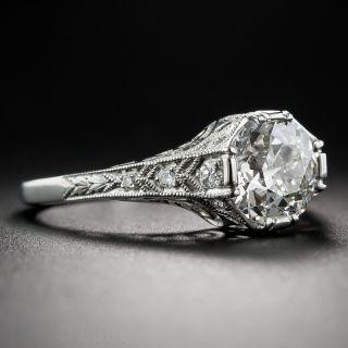 1.60 Carat Diamond and Platinum Art Deco Style Ring