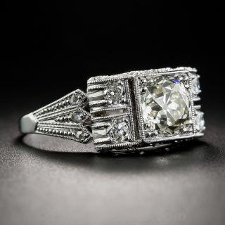 1.61 Carat Diamond and Platinum Art Deco Engagement Ring