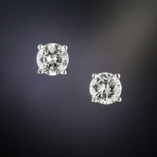 1.61 Carat Diamond Stud Earrings - 1