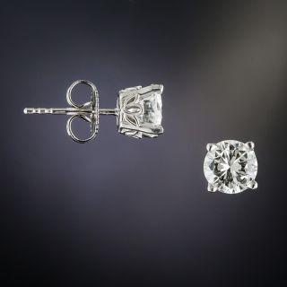 1.61 Carat Diamond Stud Earrings