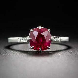 1.62 Carat Burmese Ruby Ring - 1