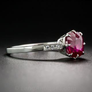 1.62 Carat Burmese Ruby Ring