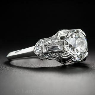 1.63 Carat Diamond Art Deco Style Engagement Ring