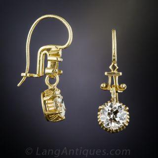 1.65 Carat Antique Diamond Earrings