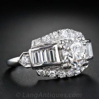 1.65 Carat European-Cut Estate Diamond Ring