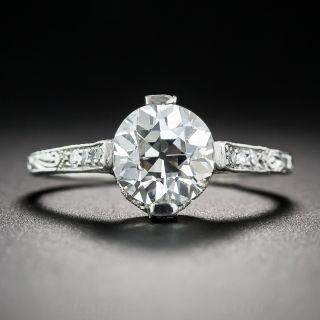1.66 Carat Diamond Art Deco Style Engagement Ring GIA I VS2