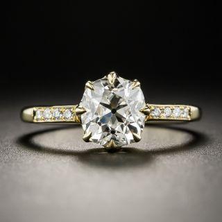 1.67 Carat Antique Cushion-Cut Diamond Engagement Ring GIA - M VS2 - 1