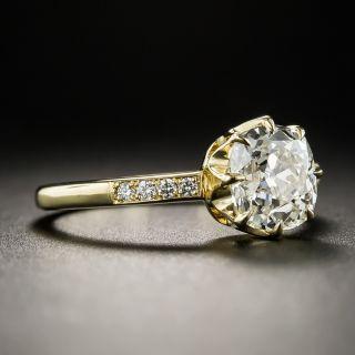 1.67 Carat Antique Cushion-Cut Diamond Engagement Ring GIA - M VS1