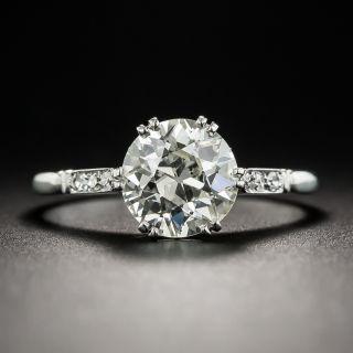 1.68 Carat European Diamond Solitaire Engagement Ring - GIA
