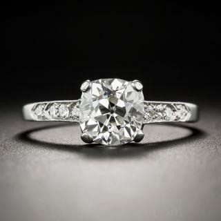 1.72  Carat Old Mine Cushion Diamond Engagement Ring - GIA J VS2