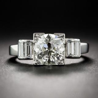1.75 Carat Diamond Art Deco Engagement Ring - 3
