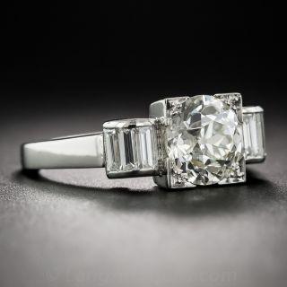 1.75 Carat Diamond Art Deco Engagement Ring