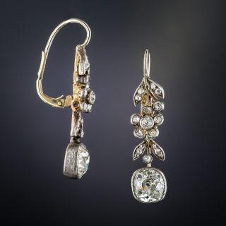 1.75 Carat Diamond Victorian Drop Earrings
