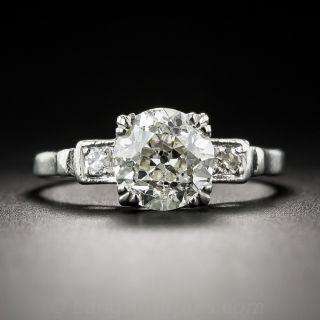 1.76 Carat Diamond and Platinum Vintage Engagement Ring - GIA - 1
