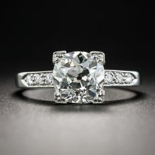 1.76 Carat Platinum Art Deco Diamond Engagement Ring