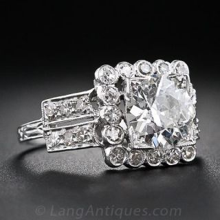 1.77 Carat Art Deco Diamond Ring