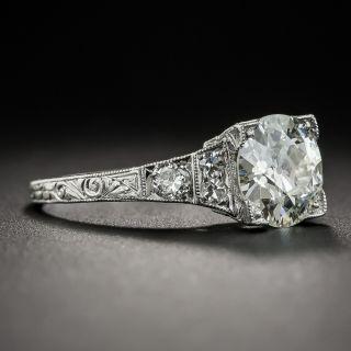 1.77 Carat Diamond Art Deco Engagement Ring - GIA L VS1