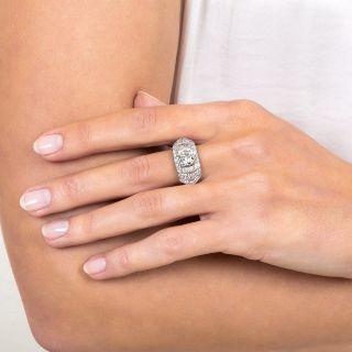 Art Deco 1.79 Carat Diamond Engagement Ring - GIA K VS1
