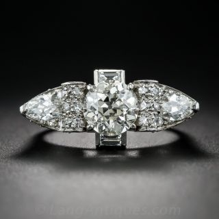 1.80 Carat Art Deco Diamond Ring in Platinum - 1
