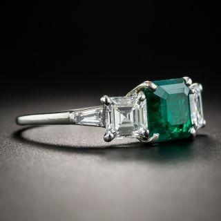 1.80 Carat Colombian Emerald Platinum Diamond Ring