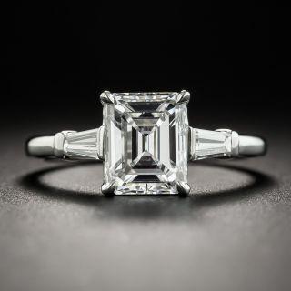 1.80 Carat Emerald-Cut Diamond Platinum Engagement Ring - GIA E VS1 - 1