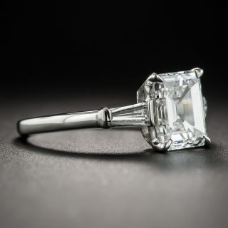 1.80 Carat Emerald-Cut Diamond Platinum Engagement Ring - GIA E VS1
