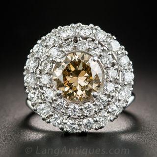 1.81 Carat Fancy Brown-Yellow Diamond Ring - GIA - 1