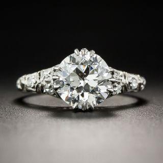 1.84 Diamond and Platinum Vintage Engagement Ring GIA I/VS1