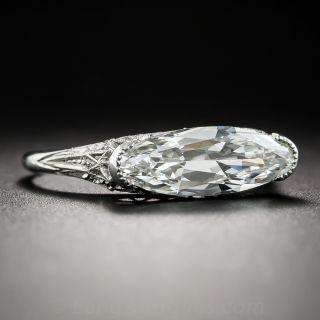 1.86 Carat Marquise Art Deco Platinum Diamond Ring - GIA  G VS1