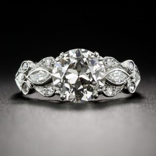 1.88 Carat Art Deco Vintage Diamond Ring GIA L-SI2