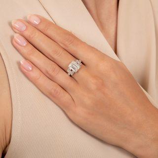 1.90 Carat Carré-Cut and Baguette Diamond Ring