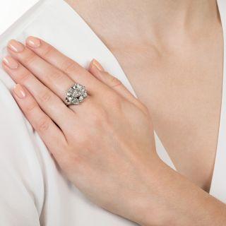 1.97 Carat Marquise Diamond Mid-Century Ring