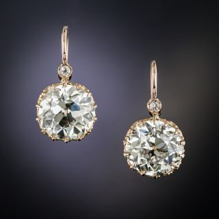 10.03 Carat European-Cut Diamond Earrings - GIA L/M VS1 - 2