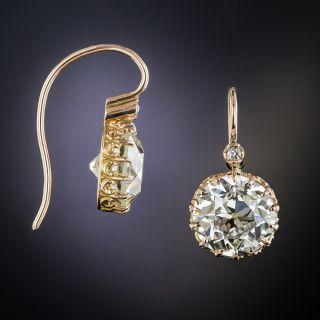 10.03 Carat European-Cut Diamond Earrings - GIA L/M VS1