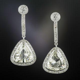 10.03 Carat Total Weight Trillion-Cut Diamond Drop Earrings - GIA - 1