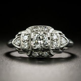 Art Deco .25 Carat Diamond Engagement Ring by Granat Brothers - 1