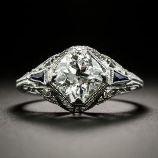 Art Deco 1.49 Carat Diamond Engagement Ring - GIA K SI1 - 1