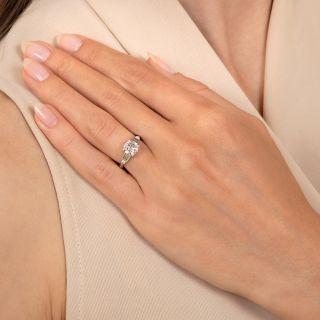 Art Deco 1.11 Carat Diamond Engagement Ring - GIA E VVS2