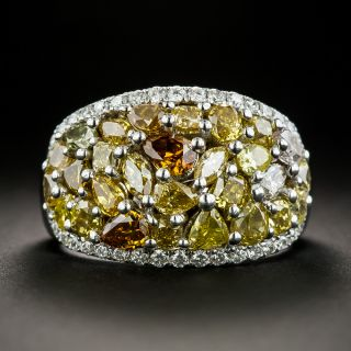 Fancy Colored Diamond Dome Ring - 1