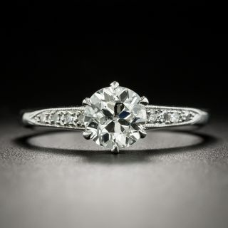 Vintage Style 1.01 Carat Diamond Solitaire Engagement Ring - GIA I SI2 - 1