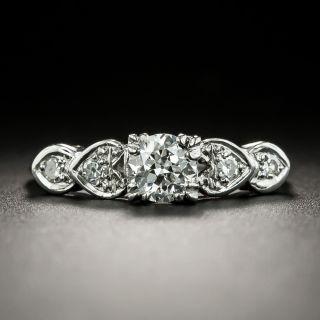 Mid-Century .50 Carat Diamond Engagement Ring - 2