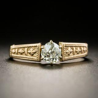 Victorian .38 Carat Diamond Solitaire Ring - 1