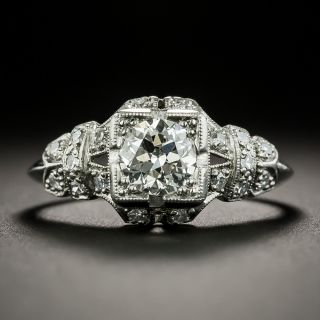Art Deco .55 Carat Diamond Engagement Ring - 1