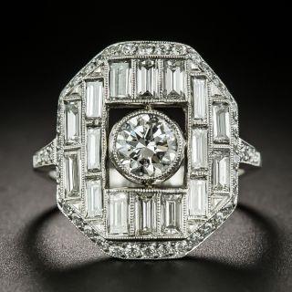 Art Deco Style .72 Carat Center Diamond Engagement Ring - 1