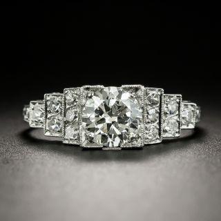 Art Deco .91 Carat Diamond Engagement Ring by Tenen Brothers - GIA - H VVS1  - 1