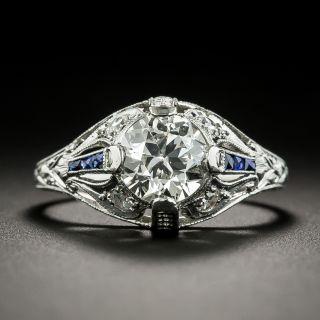 Art Deco 1.21 Carat Diamond Engagement Ring - GIA K VS2 - 1
