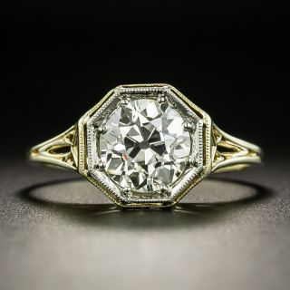 Art Deco 1.80 Carat Diamond Solitaire Ring - GIA O-P VS1 - 1
